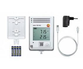 testo 160 IAQ - testo 160 IAQ – WiFi-логгер данных с дисплеем и встроенными сенсорами температуры, влажности, CO2 и атмосферного давления