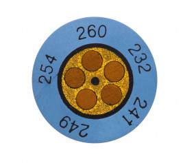 Круглые термоиндикаторы testoterm - измерительный диапазон +199 … +224 °C