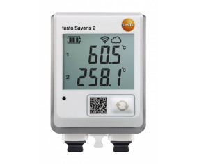 testo Saveris 2-T3 - WiFi-логгер данных с дисплеем и двумя разъемами для подключения внешних термопар
